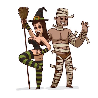 sexy halloween sticker free iOS message pack