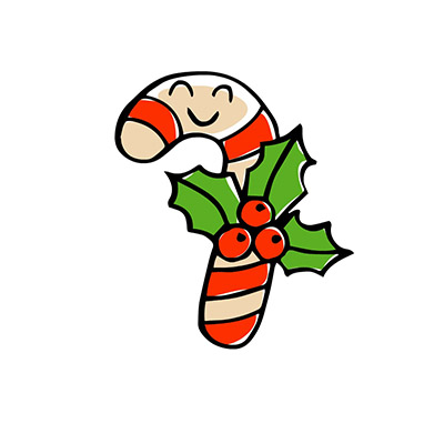 candy cane stickers for iMessages free
