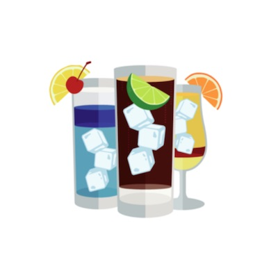 cocktail recipe stickers free for iOS messages