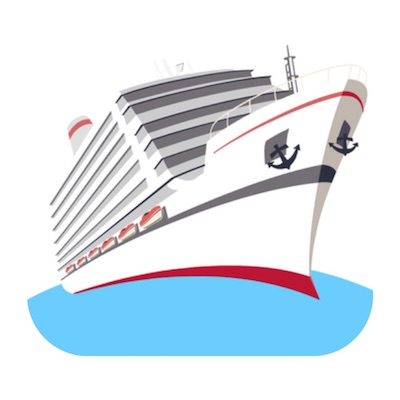 cruise ship stickers free for iOS messages