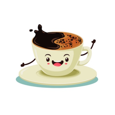 free animated coffee stickers for iOS messages