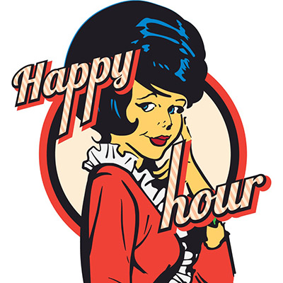 happy hour stickers for iMessages free