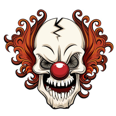 scary clown stickers for iOS messages